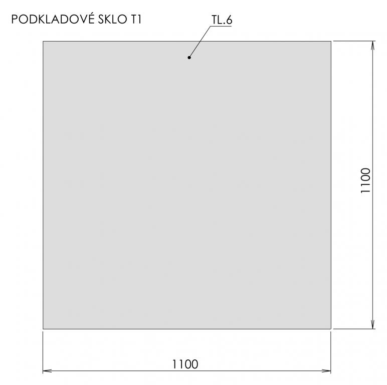 Podkladové sklo T1