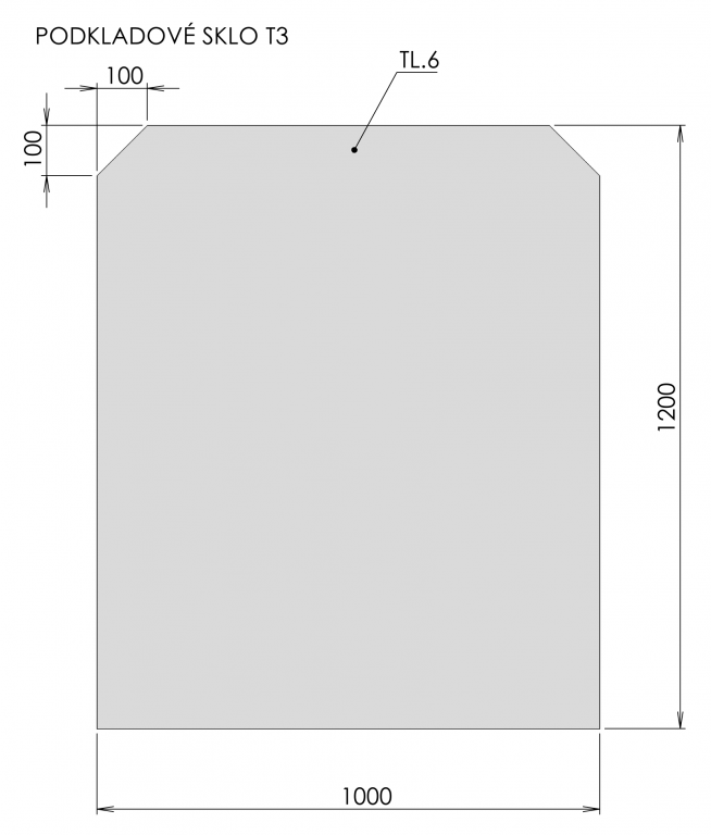 Podkladové sklo T3