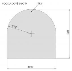 Podkladové sklo T4
