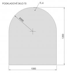 Podkladové sklo T5