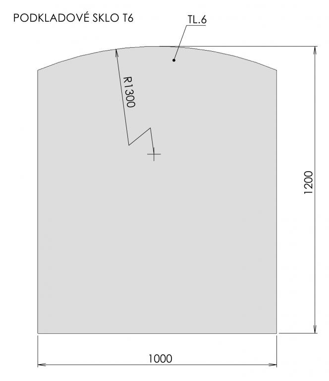 Podkladové sklo T6