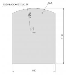 Podkladové sklo T7