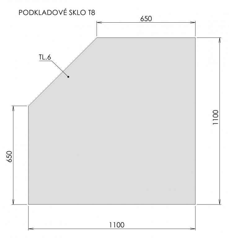 Podkladové sklo T8