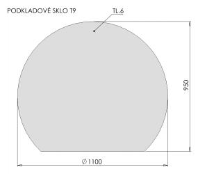 Podkladové sklo T9