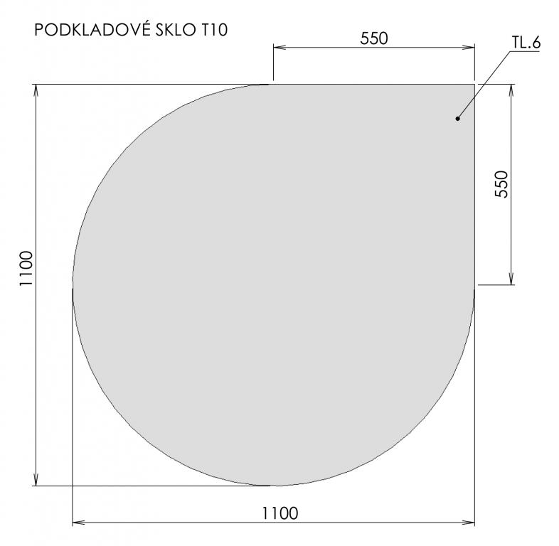 Podkladové sklo T10