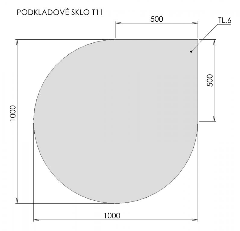 Podkladové sklo T11