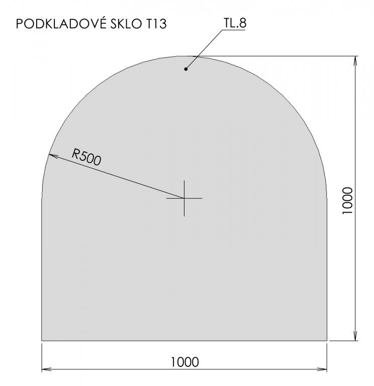 Podkladové sklo T13